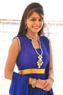 Actress Harisha Krishna Stills in Beautiful Blue Chudiddar  0010.jpg