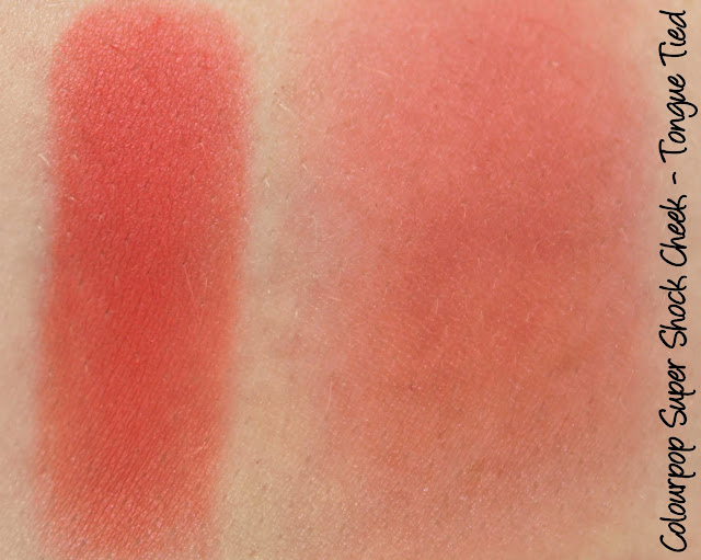Colourpop Super Shock Cheek - Tongue Tied Blush Swatches & Review