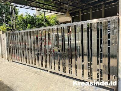 jasa pintu pagar stainless murah