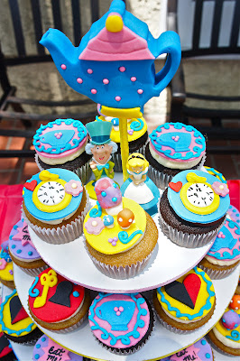 Custom Cupcakes Los Angeles, CA - Alice in Wonderland Cupcakes