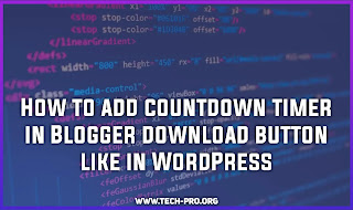 How to add countdown timer in Blogger download button like in WordPress