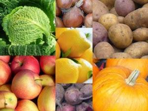 Αποθήκευση φρούτων και λαχανικών σε κελάρια