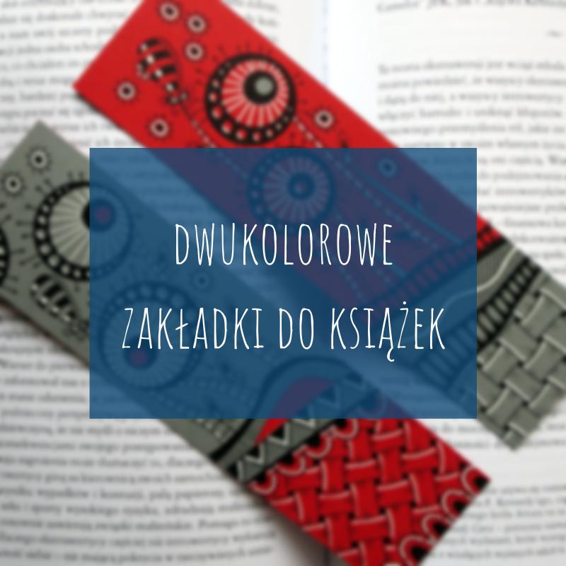 Dwukolorowe zakładki do książek