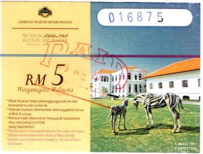 Harga Tiket Masuk Ke Muzium Sultan Abu Bakar