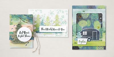 Stampin' Up! July 2021 Paper Pumpkin Alternative Projects: The Adventure Begin