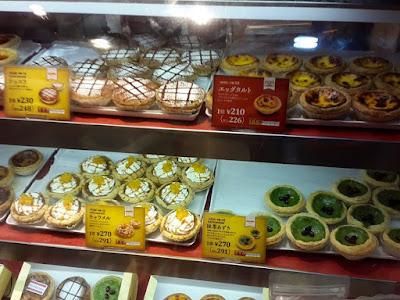 Egg tarts in Lord Stow's Bakery at Dotonbori Osaka Japan