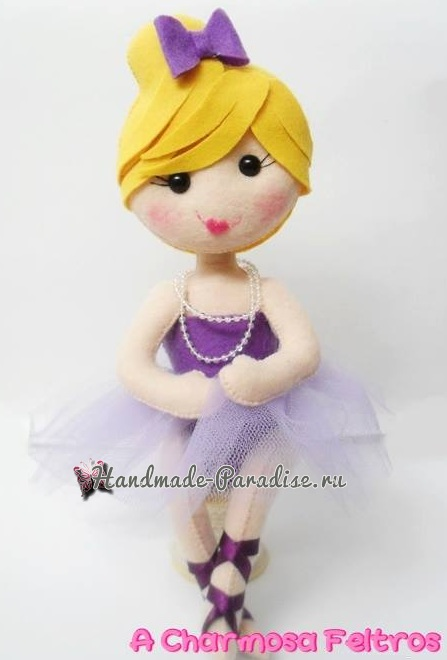 Гламурная куколка - балерина из фетра (1)