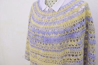 5 - Crochet Imagen Capa o poncho a crochet y ganchillo muy fácil y sencillo por Majovel Crochet