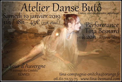 Danse, Butô, Butoh, Rennes, Tina Besnard, Japon, contemporaine, stage, atelier, cours,
