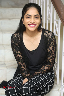 Actress Punarnavi Bhupalam Stills in Black Dress at Pittagoda Press Meet  0097.JPG