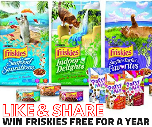 WIN a Year's Worth of Friskies FREE- 2 Winners
