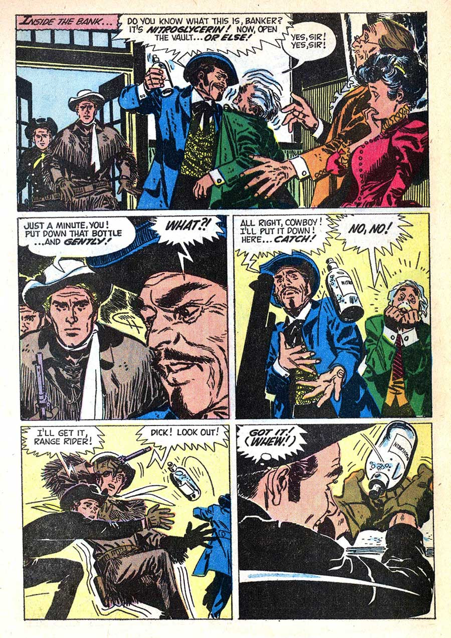 Flying A's Range Rider v1 #17 dell western comic book page art by Alex Toth