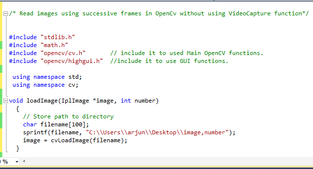 OpenCV C++ Tutorial And Examples: Reading images sequentially