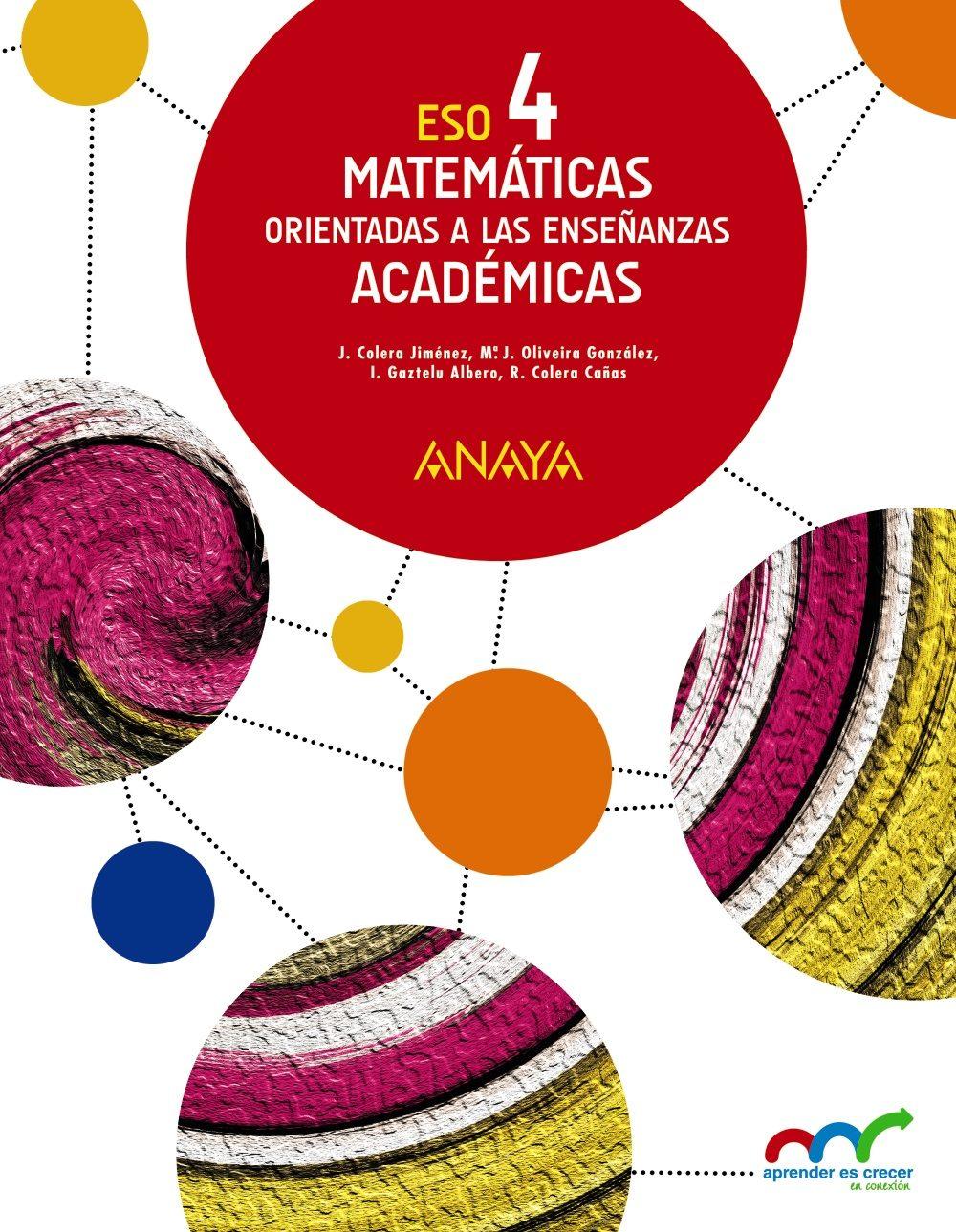 Libro Matemáticas Orientadas a las Enseñanzas Académicas 4º ESO ...