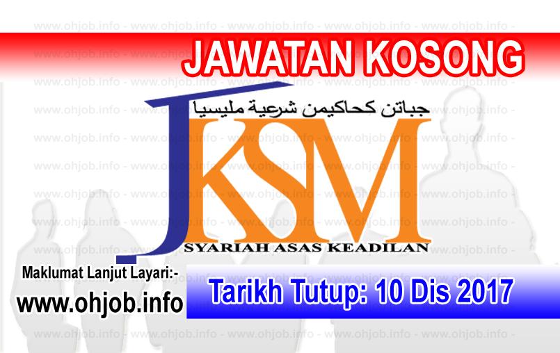 Jawatan Kerja Kosong Jabatan Kehakiman Syariah Malaysia logo www.ohjob.info disember 2017