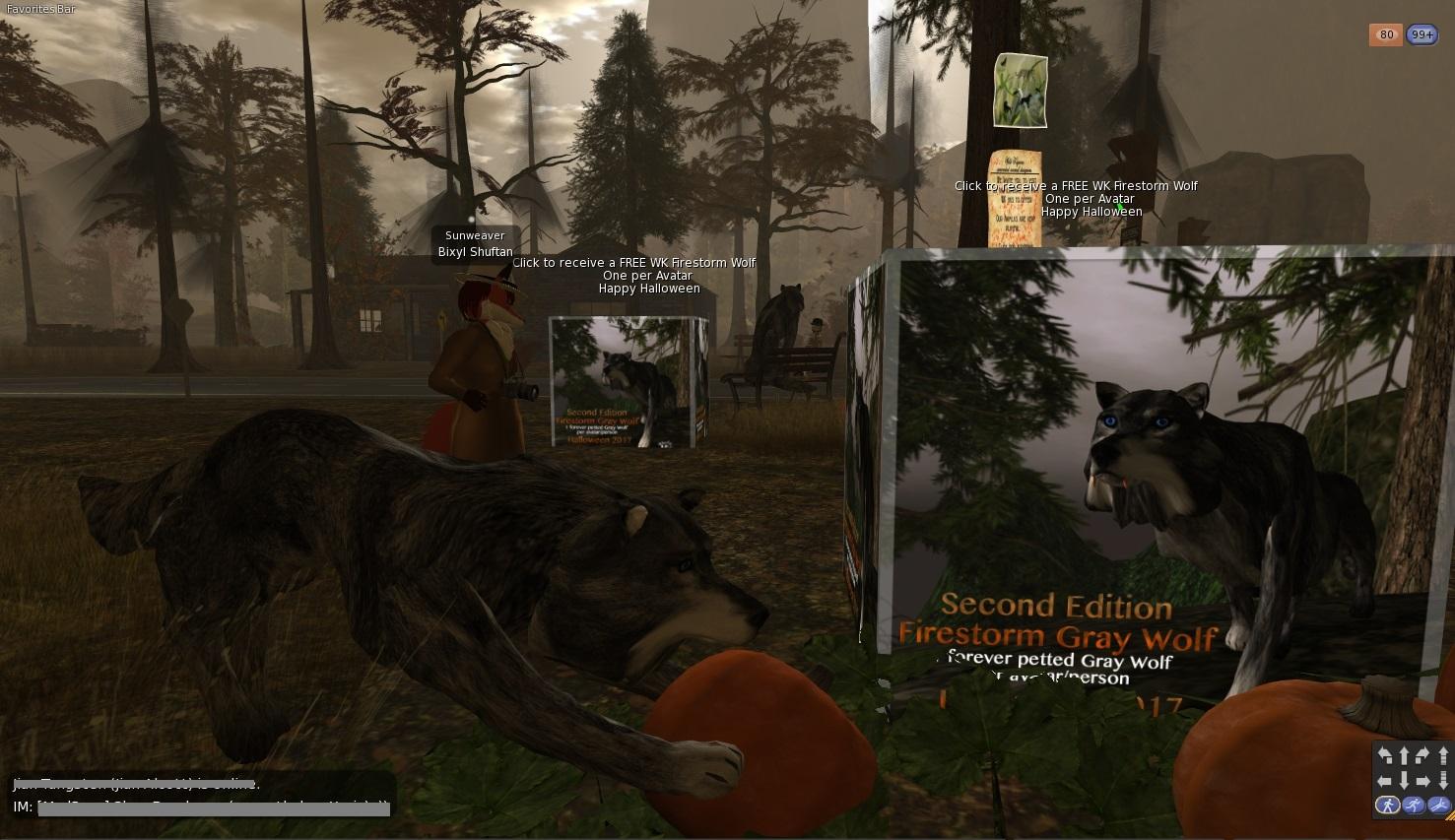 Second Life Newser: Team Firestorm's Halloween Gift Pet Wolf
