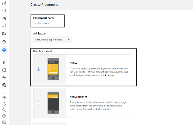 Create Native Ad on Facebook Audience Network