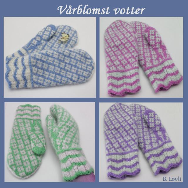 strikkeoppskrift på mønstervotter