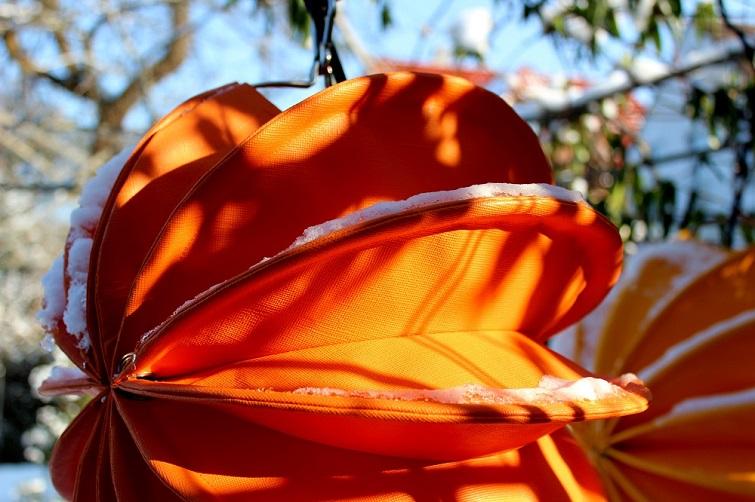 Auch im Winter - Lampion für den Garten