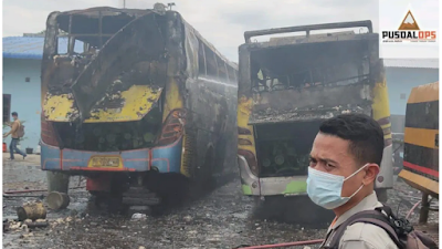 Terbongkar : Ini Penyebab Sebenarnya 2 Unit Bus Pinem Terbakar di medan