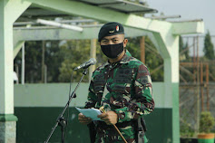 Danyonif Raider 408/Sbh pimpin acara pemberangkatan Personel BP Satgas Pamtas Mobile Yonif Raider 400/BR