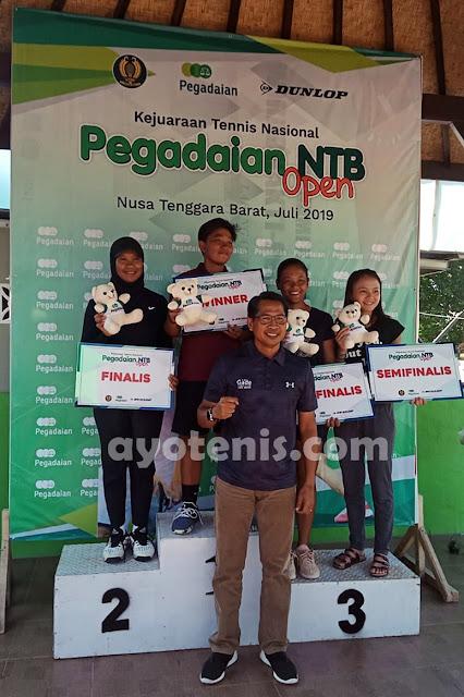 Tekuk Andalan Tuan Rumah, Fadona Sabet Gelar Juara Tennis Pegadaian Open 2019