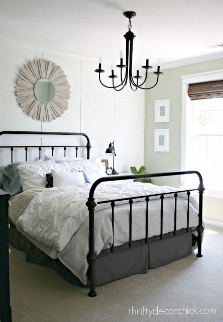 farmhouse bedroom ideas iron bed