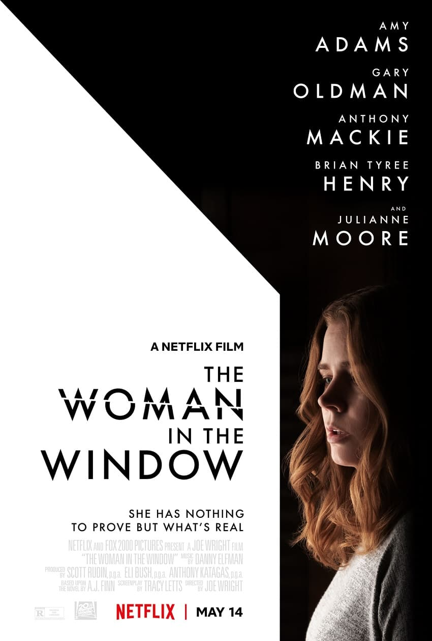 Netflix показал постер фильма «Женщина в окне» - триллер выйдет в мае