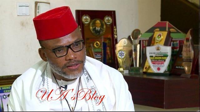 "Kanu counters Presidency, says ""Jubril-Buhari"" yet to arrive Japan"