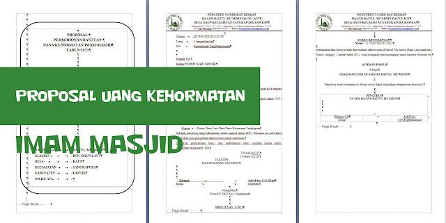 Contoh Proposal Permohonan Uang Kehormatan Imam Masjid