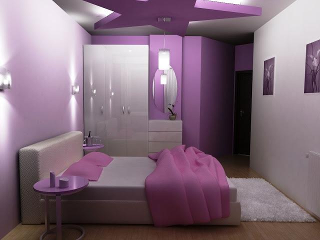 chambre fille ado violette. Black Bedroom Furniture Sets. Home Design Ideas