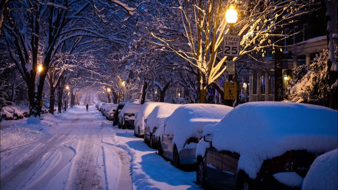 Heavy snowfall - snowfall in European countries, public transport stalled