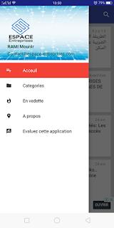 Application android espace entreprise