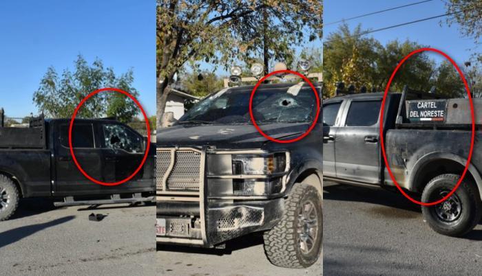"""Cómo son las camionetas """"Monstruo"""" que usaron sicarios del Cartel del Noroeste para topar a las autoridades y aterrorizar a la gente de Coahuila"""