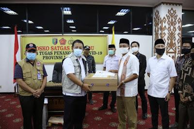 Gubernur Lampung Terima Bantuan Penanggulangan Covid-19 Dari DPD Gerindra Lampung
