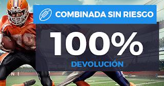 Paston promoción NFL: Combinada 4x3 100% Devolución 22-24 septiembre