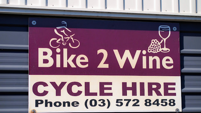 Bike 2 Wine cycle hire sign in Marlborough New Zealand