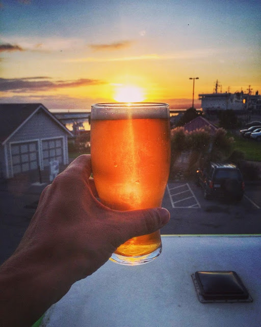 A sunset beer in Victoria on Vancouver Island, Canada