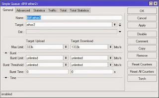Max Limit Bandwidth