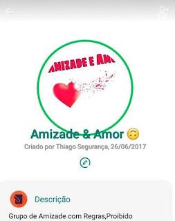 Amizade e Amor - Links de Grupos de WhatsApp