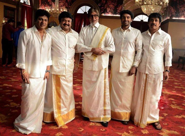 Men wearing dhoti kurta.