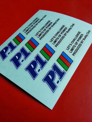 P1 Racing - FK by Buddy Club decal sticker