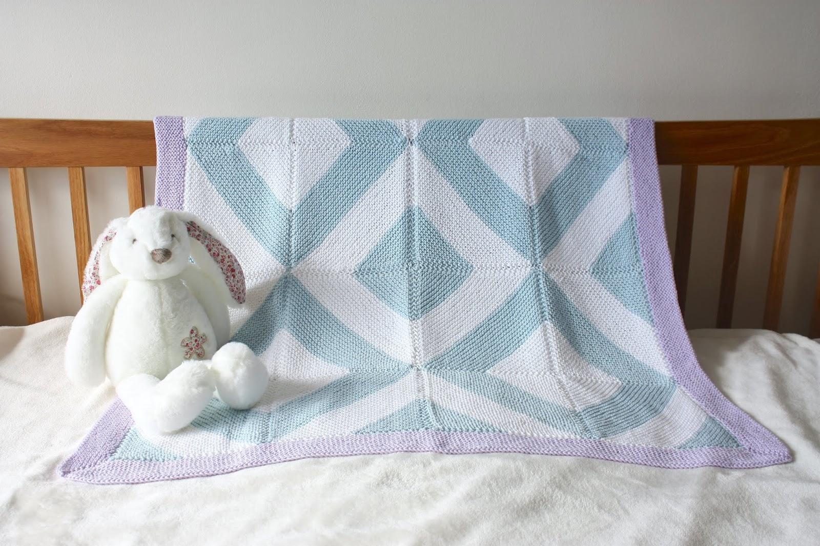 Vikki Bird Designs: Tessellate baby blanket: now available