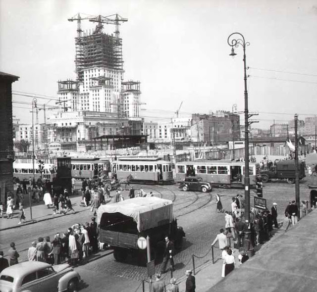 Construção de um edifício em Varsóvia