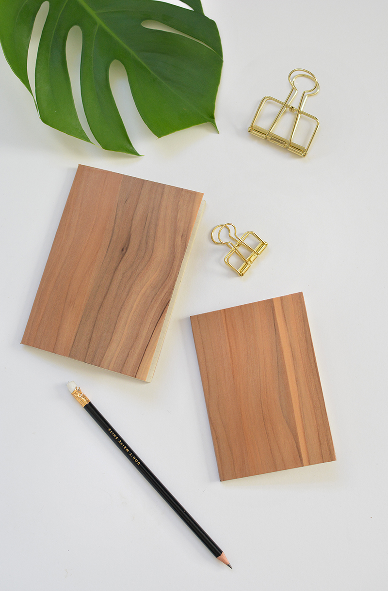 wooden notebook DIY