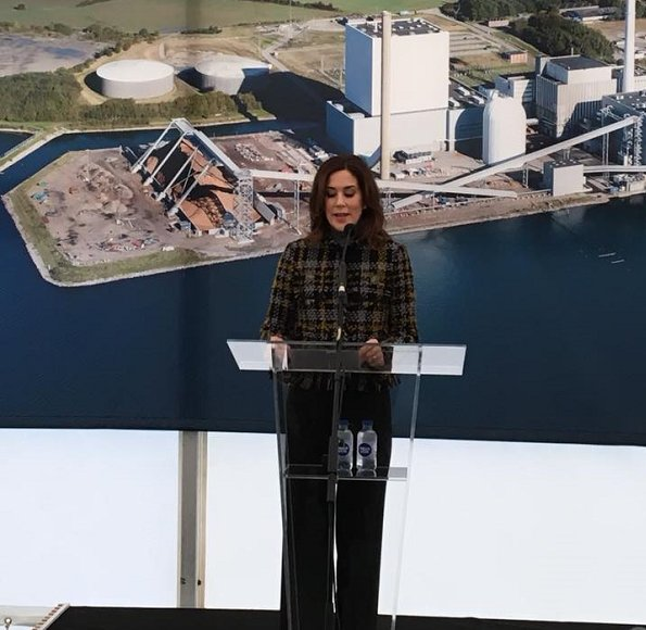 Crown Princess Mary attended the opening of renoved Skærbæk Power Station (Skærbækværket) in Fredericia