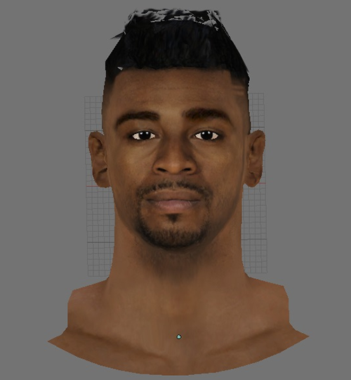 NBA 2K14 Dorell Wright Face Hair Mod