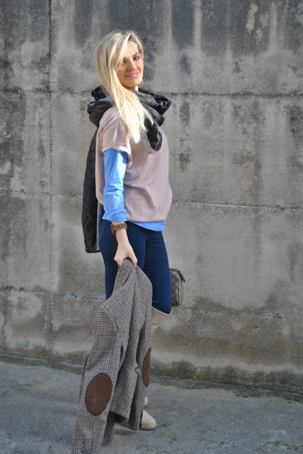 outfit blazer in lana con le toppe come abbinare un blazer in lana abbinamenti blazer in lana how to wear wool blazer how to combine wool blazer outfit febbraio 2016 outfit casual invernali outfit invernali ragazze bionde blonde hair blondie blonde girl mariafelicia magno fashion blogger colorblock by felym fashion blog italiani fashion blogger italiane blog di moda blogger italiane di moda fashion blogger bergamo fashion blogger milano fashion bloggers italy italian fashion bloggers influencer italiane italian influencer