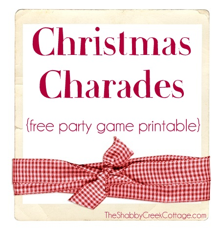graphic relating to Words to 12 Days of Christmas Printable referred to as Xmas Charades (no cost printable get together match)