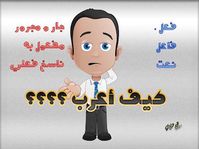 طريقة إعراب أي كلمة أو جملة في اللغة العربية